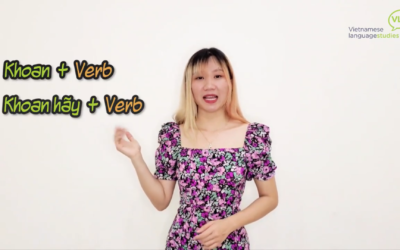 Learn Vietnamese Online: Khoan | To halt/to hold on [Part 2]