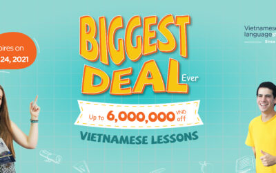 The BIGGEST DEALS on Vietnamese Lessons   Only in August